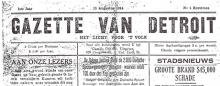De Gazette van Detroit bestaat 100 jaar