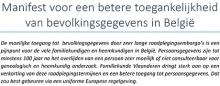 Familiekunde Vlaanderen ijvert voor een betere toegankelijkheid van bevolkingsgegevens in België