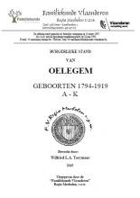 Oelegem Burgerlijke stand Geboorten 1794-1919