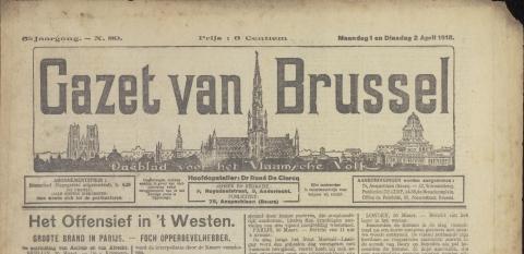 Nieuws van de groote oorlog - Deur tijdschrift nieuws ...