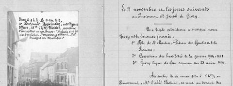 Parochieverslagen uit de Eerste Wereldoorlog online beschikbaar via de website van het Rijksarchief in België