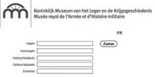 Index dossiers Belgische militairen online