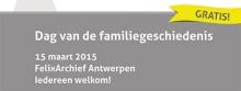 Schud eens aan je stamboom! Welkom op de eerste 'Dag van de familiegeschiedenis'